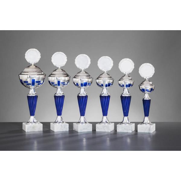 Pokal Silber-Blau Inara