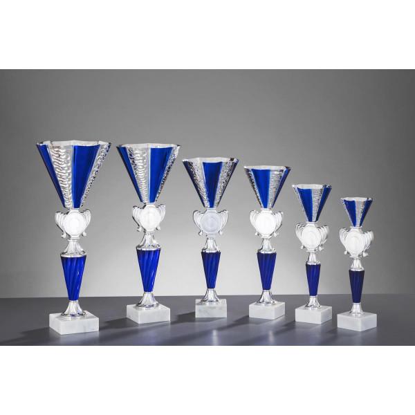 Pokal Silber-Blau Milenia