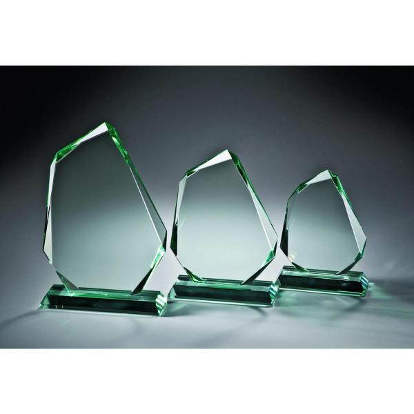 """Stärke 15mm perfekter SchliffJADE-Glas """"Glasfels"""" 265mm"""